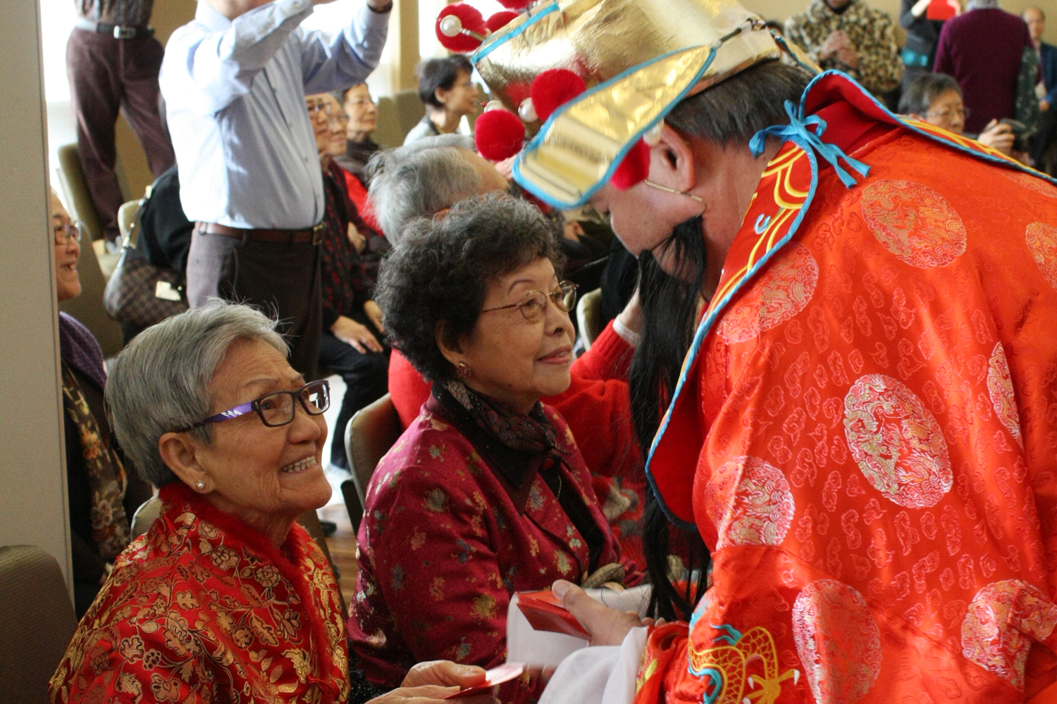 Mon Sheong Court residents celebrating Chinese New Year