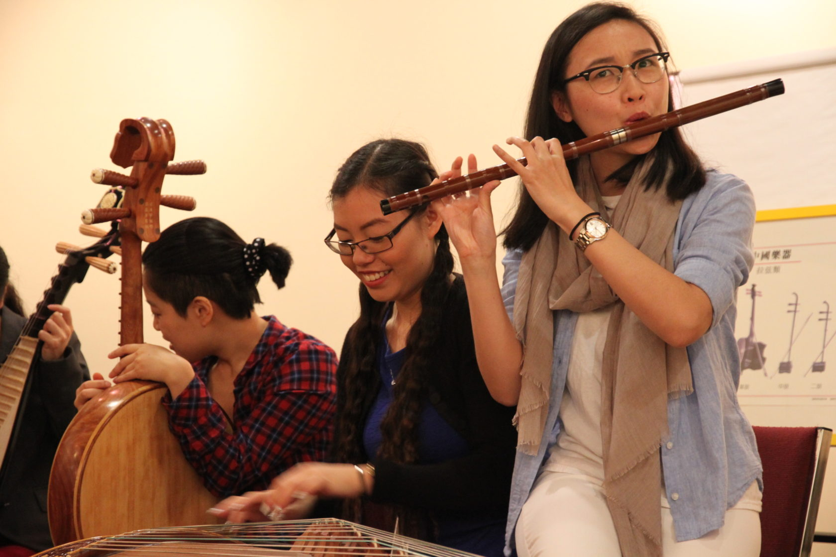 Youths play chinese insurements