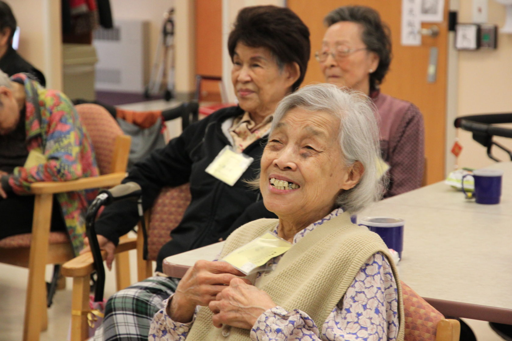Adult day program seniors are happy to attend workshop